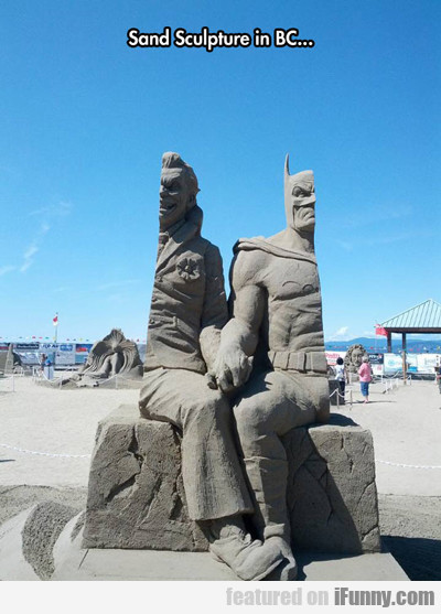 Sand Sculpture Found In Bc...