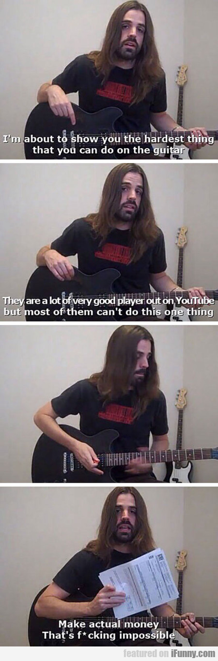 The Hardest Thing You Can Do On The Guitar