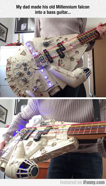 My Dad Made His Old Millennium Falcon Into A Bass