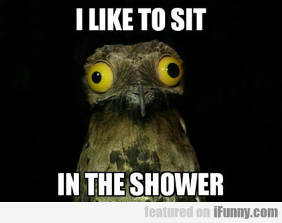 I Like To Sit In The Shower...
