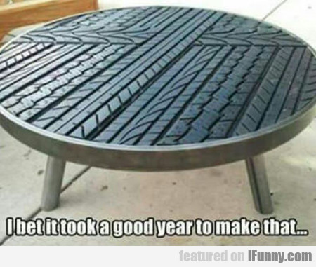 I Bet It Took A Good Year To Make...