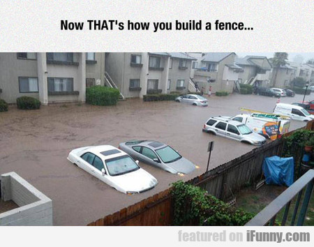 Now That's How You Build A Fence...