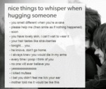 Nice Things To Whisper When Hugging Someone