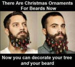 There Are Christmas Ornaments For Beards Now...