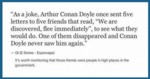 As A Joke, Arthur Conan Doyle Once Sent Five...