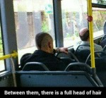 Between Them, There Is A Full Head Of Hair