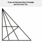 If You Can Find More Than 18 Triangles...