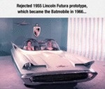 Rejected 1955 Lincoln Futura Prototype