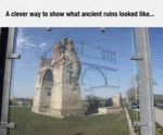 A Clever Way To Show What Ancient Ruins Looked...