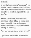 Merican Meaning