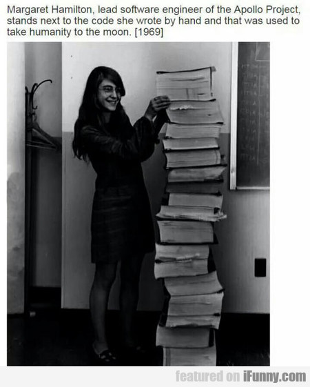 Margaret Hamilton, Lead Software Engineer Of The..