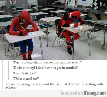 Pssst, Spidey, What'd You Get For Number Seven?