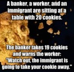 A Banker, A Worker And An Immigrant Are...