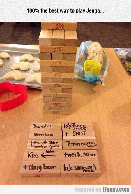 100% the best way to play Jenga...