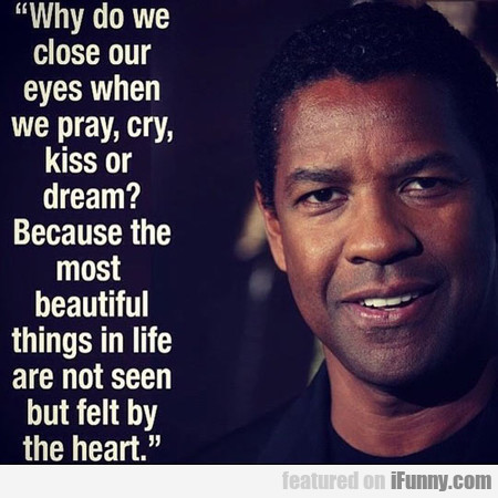 why do we close our eyes when we... ?