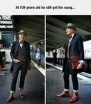 At 104 Years Old He Still Got His Swag...