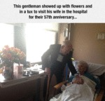 This Gentleman Showed Up With Flowers