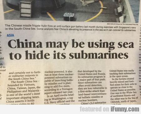 China May Be Using Sea