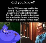 Robin Williams Agreed To Be Paid For His Role