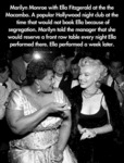 Marilyn Monroe With Ella Fitzgerald