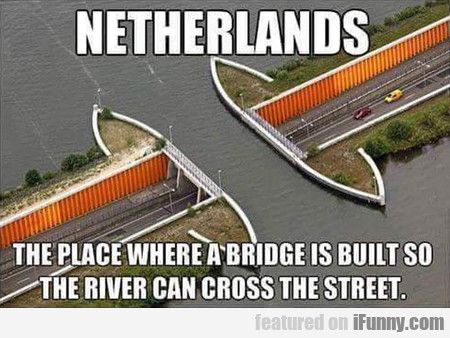 The Place Where A Bridge Is Built So The River Can