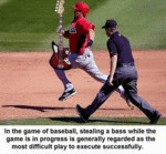 In The Game Of Baseball, Stealing A Bass While