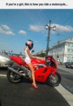 If You're A Girl, This Is How You Ride A Motorcycl
