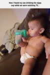 How I Found My Son Drinking His Sippy Cup