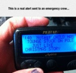 This Is A Real Alert Sent To An Emergency Crew...