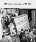 5 Megabytes Harddrive Being Shipped By Ibm - 1956.