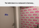 The Toilet Doors In A Restaurant In Germany...