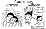 Cuddling In Winter Vs. Cuddling In Summer