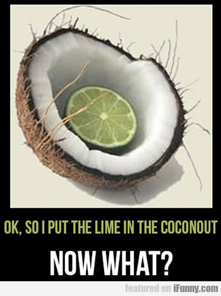Ok, So I Put The Lime In The Coconout