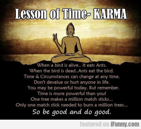 lesson of time - karma