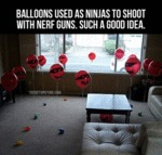 Balloons Used As Ninjas To Shoot