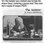 The Isolator Was A Helmet Worn To Help The Wearer
