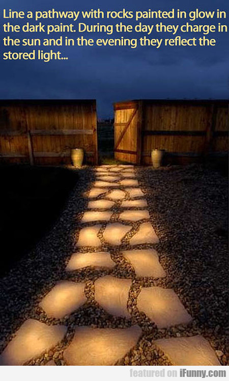 Line A Pathway With Rocks Painted In Glow In The..