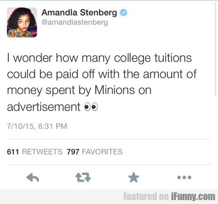 I Wonder How Many College Tuitions
