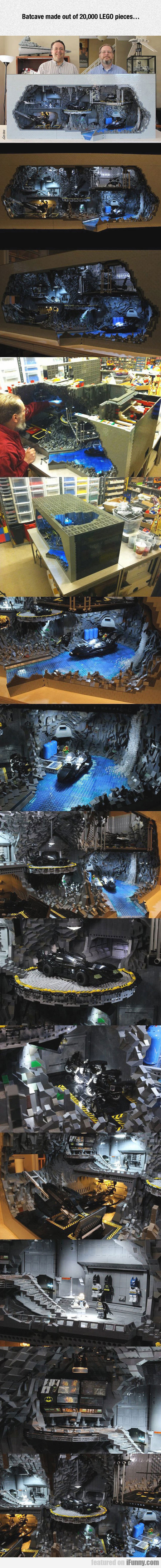 Batcave Made Out Of 20,000 Lego Pieces...
