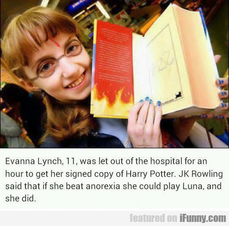Evanna Lynch, 11, was let out of the hospital for