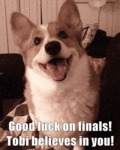 Good Luck On Finals! Tobi Believes In You!