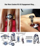 Star Wars Custom R2-d2 Engagement Ring...