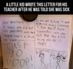 A Little Kid Wrote This Letter For His Teacher