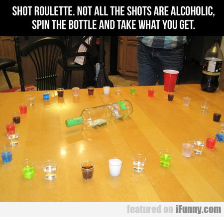 Shot Roulette. Not All The Shots Are Alcoholic