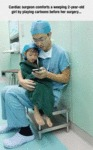 Cardiac Surgeon Comforts A Weeping 2-year-old Girl