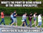 What's The Point Of Being Afraid Of The Zombie...