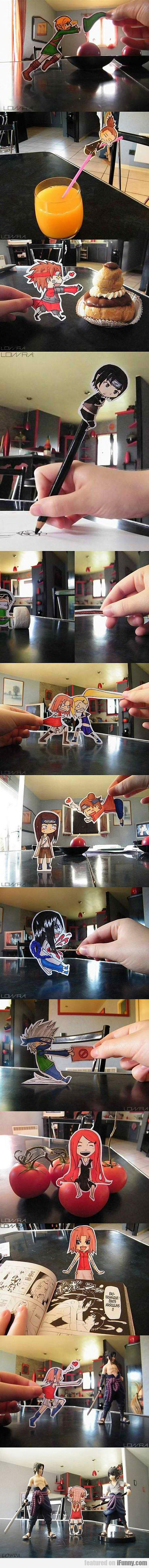 Epic Artworks Using Only Paper