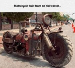 Motorcycle Built From An Old Tractor...