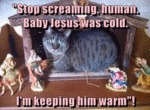 Stop Screaming, Human. Baby Jesus Was Cold