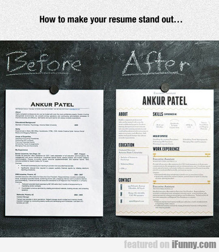 how to make your resume stand out ifunny